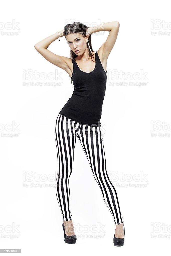 Sexy brunette woman posing royalty-free stock photo