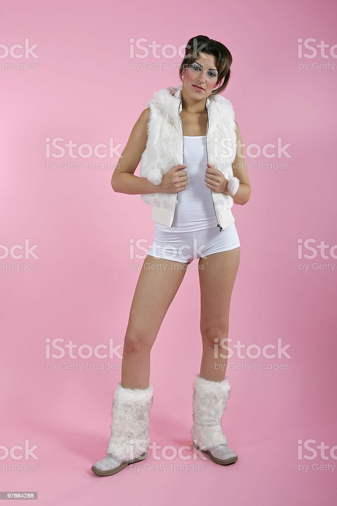 sexy brunnete with fashion coat royalty-free stock photo