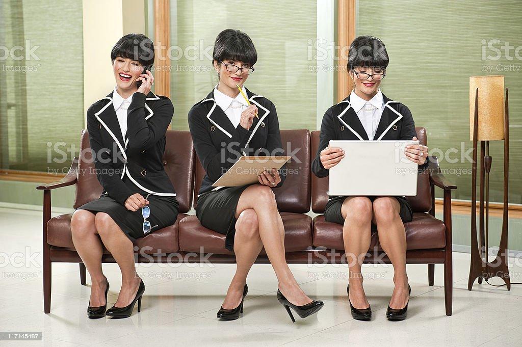 Sexy Businesswoman Multi Tasking royalty-free stock photo