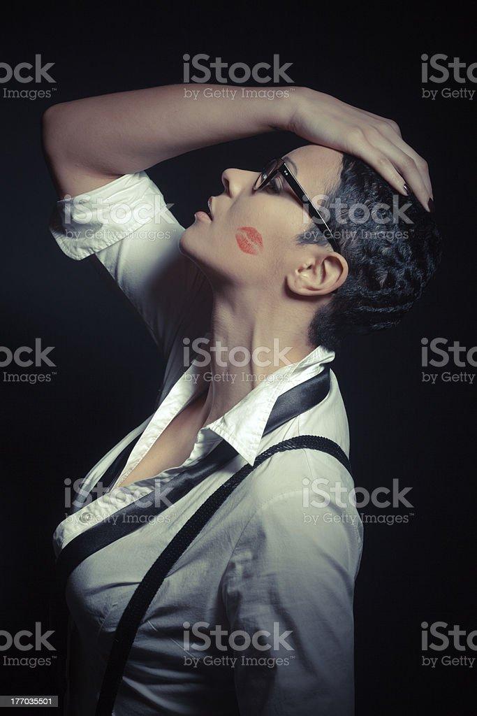 Sexy Cabaret Woman royalty-free stock photo