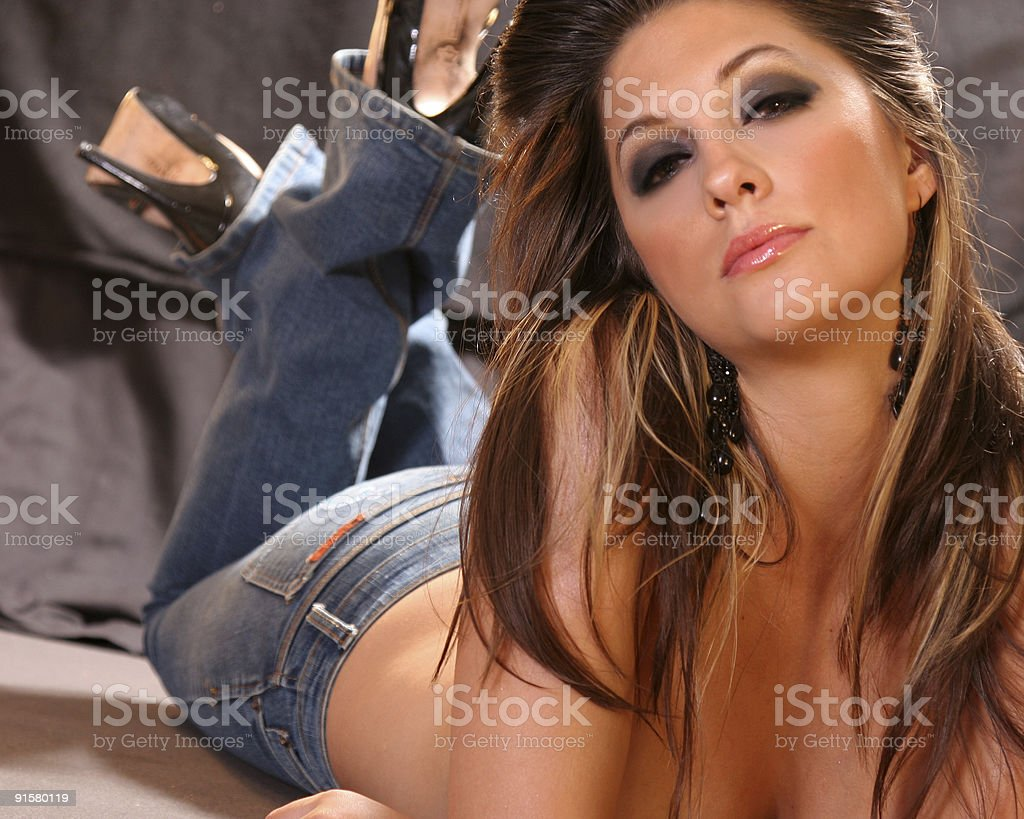 Sexy Casual Woman royalty-free stock photo