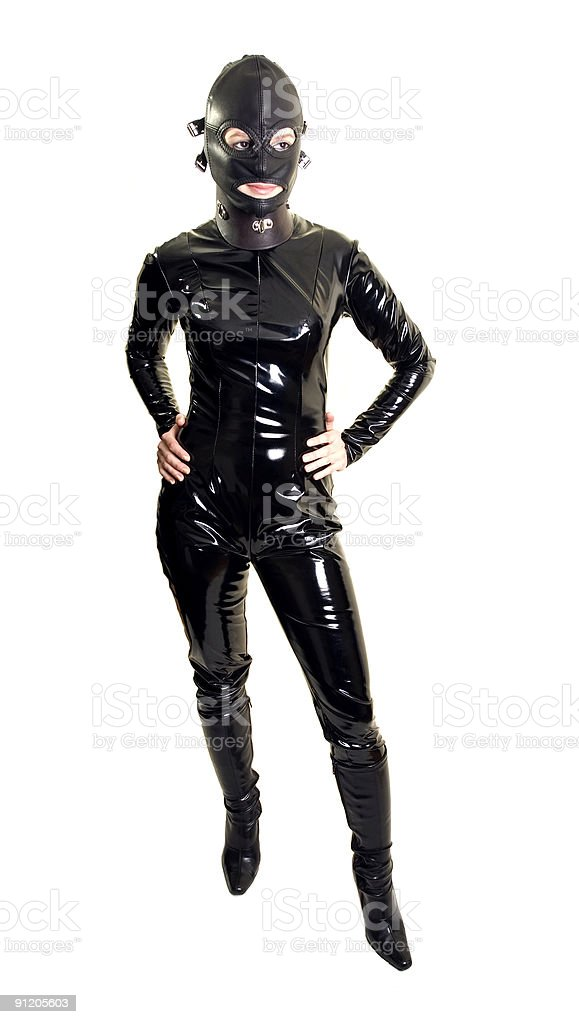 Sexy catsuit stock photo