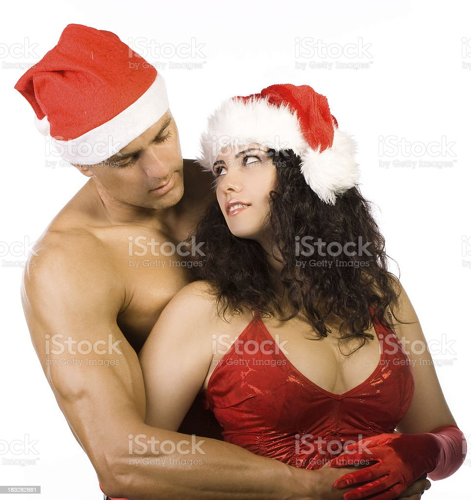 Sexy Christmas royalty-free stock photo