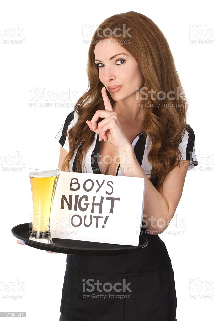 sexy cocktail waitress royalty-free stock photo