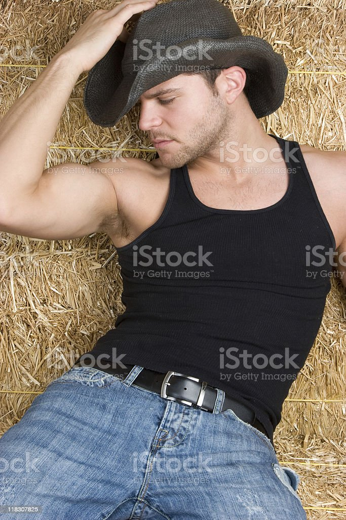 Sexy Country Boy royalty-free stock photo