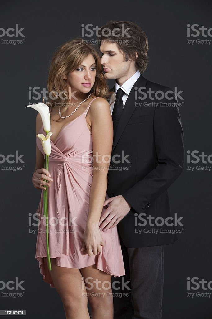 sexy couple flirting royalty-free stock photo