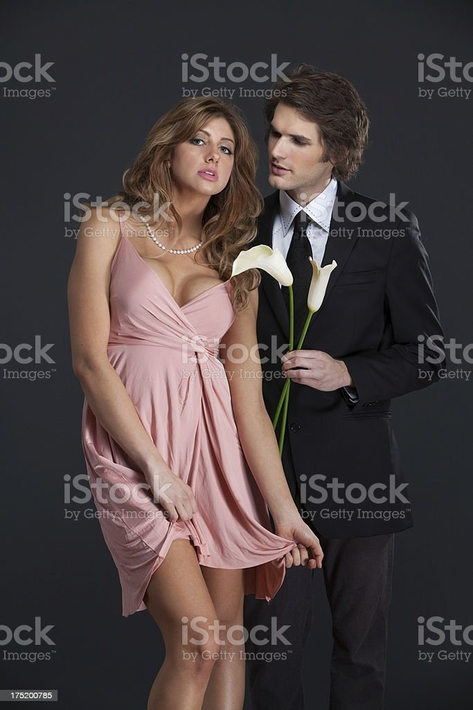 sexy couple flirting royalty-free stock photo
