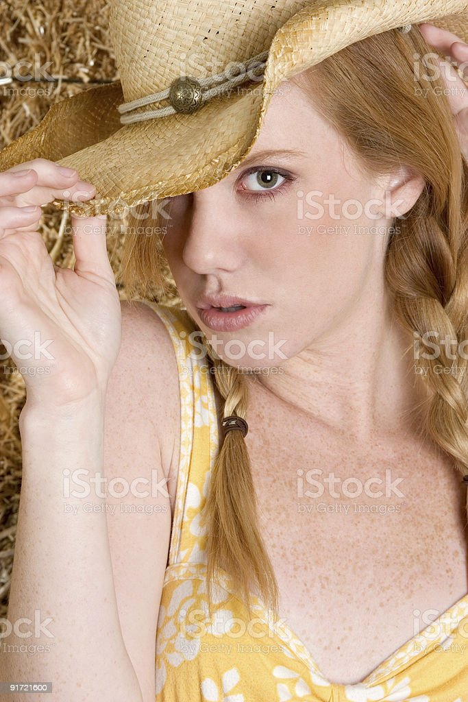 Sexy cowgirl royalty-free stock photo