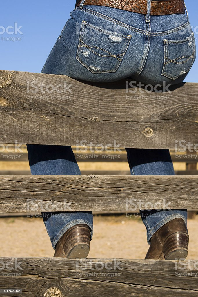 Sexy Cowgirl's Ass royalty-free stock photo