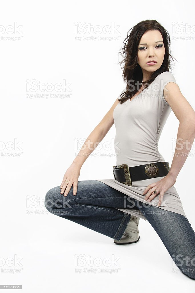 Sexy Crouch royalty-free stock photo