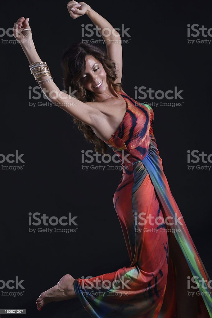 Sexy dancer royalty-free stock photo