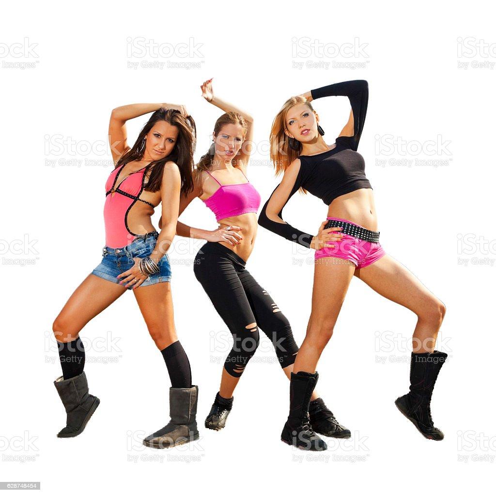 Sexy dancers stock photo