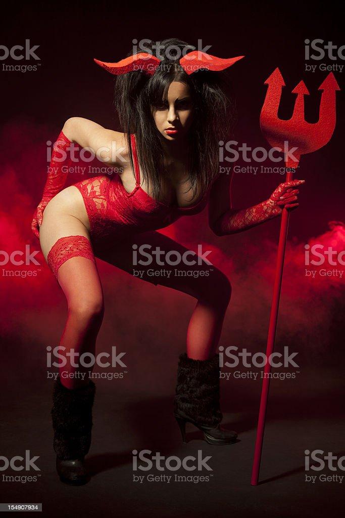 Sexy demon girl royalty-free stock photo