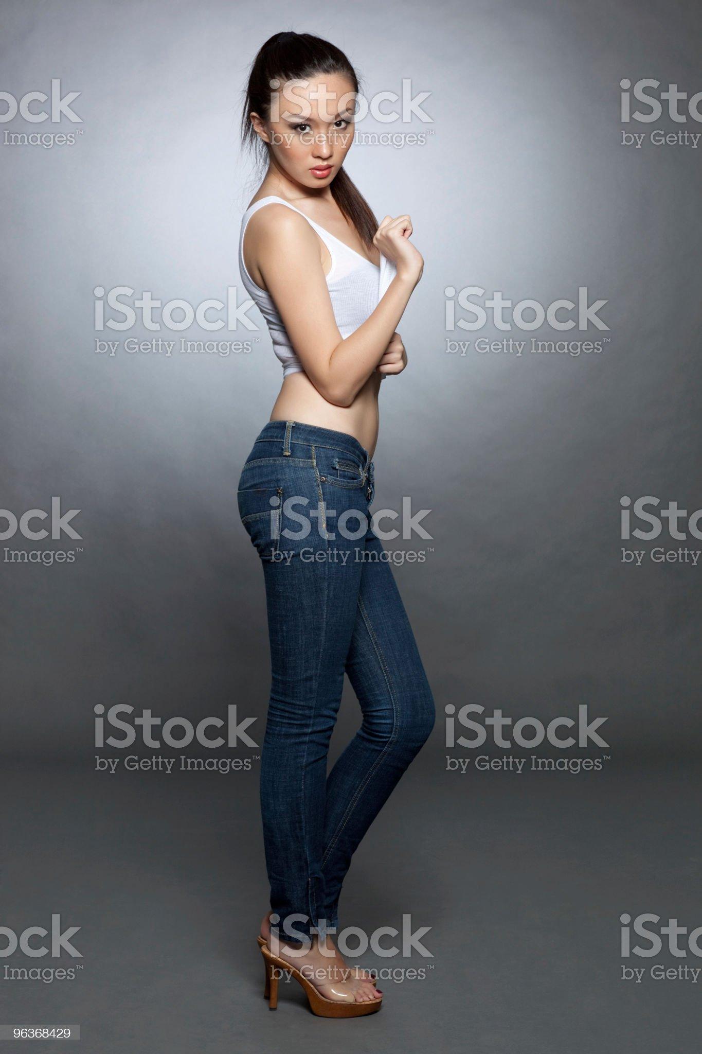 Sexy denim royalty-free stock photo