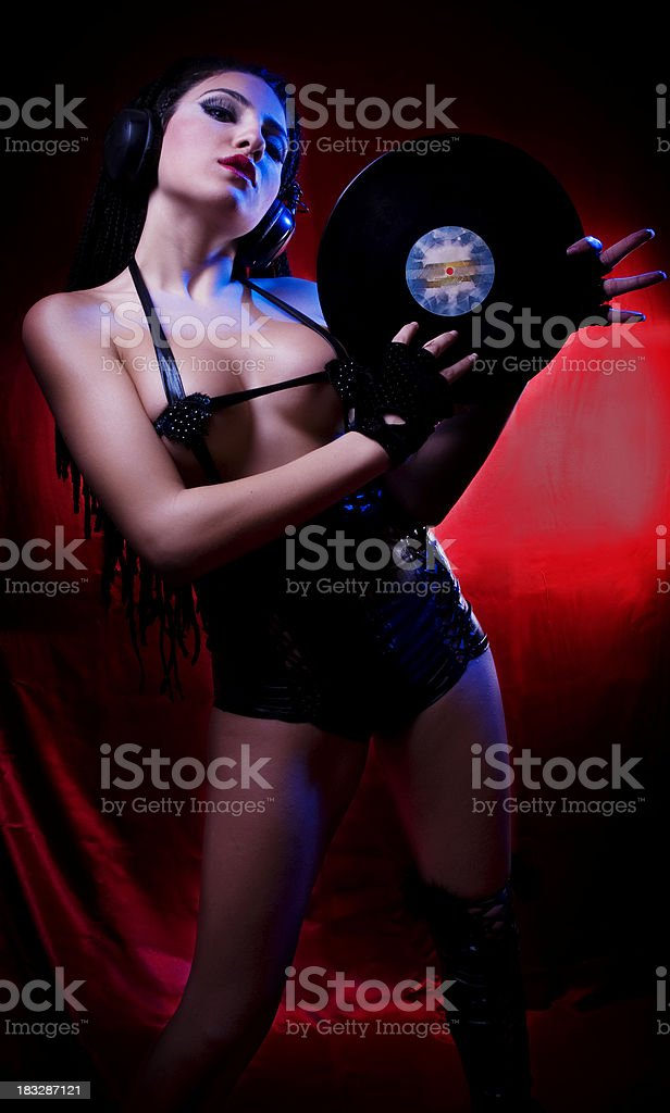 Sexy Dj royalty-free stock photo