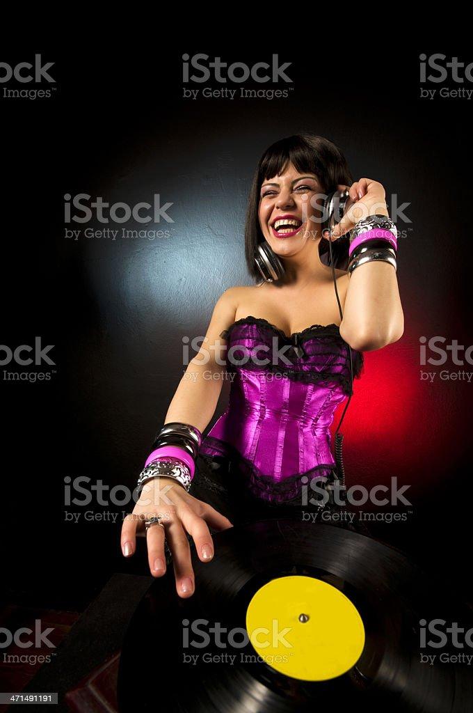 Sexy Dj royalty-free stock photo