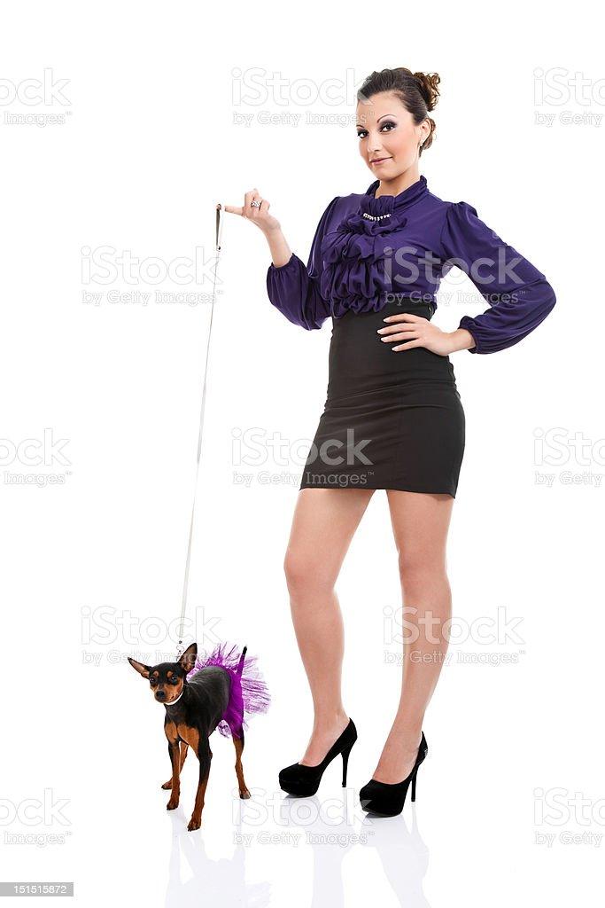 sexy dog lady royalty-free stock photo