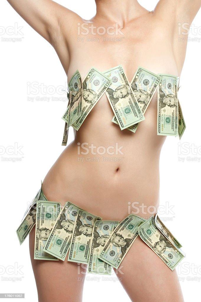 Sexy dollars royalty-free stock photo