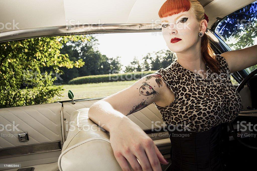 Sexy driver stock photo