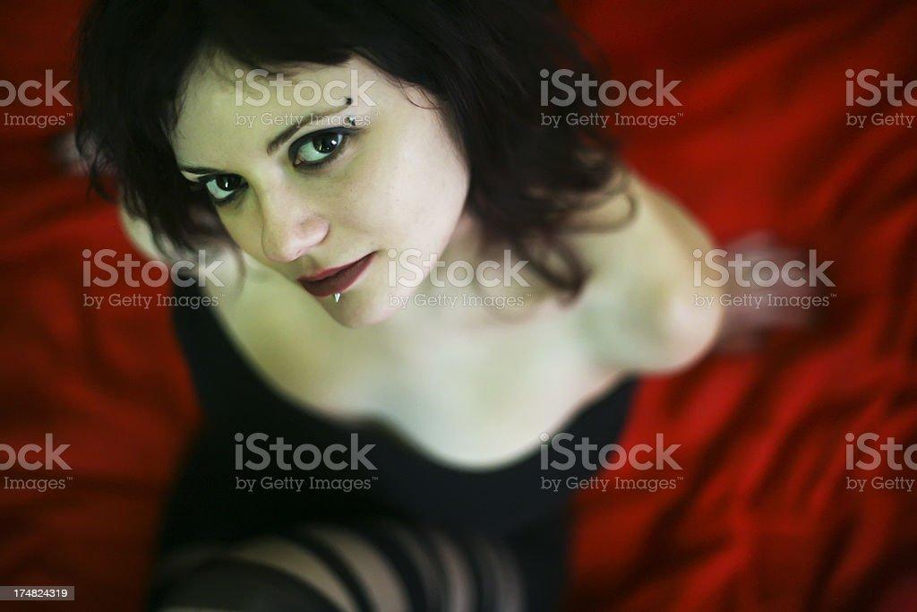 Sexy emo girl stock photo
