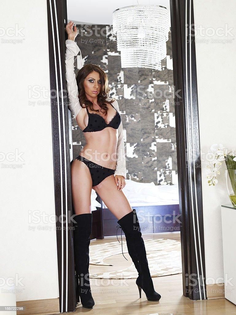 Sexy fashion model royalty-free stock photo