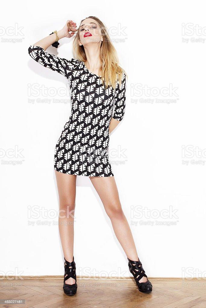 Sexy fashionable woman royalty-free stock photo