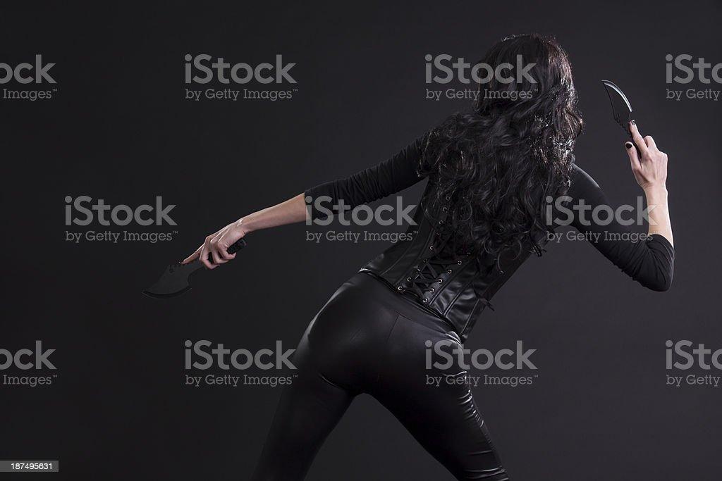 Sexy Female Assassin stock photo