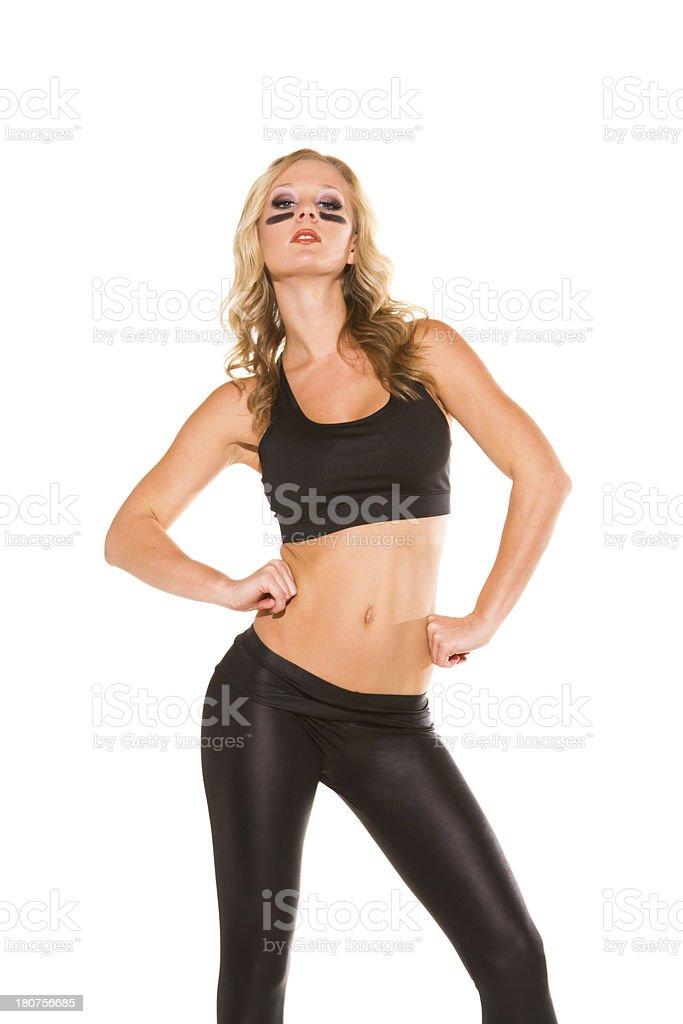 Sexy female athlete royalty-free stock photo