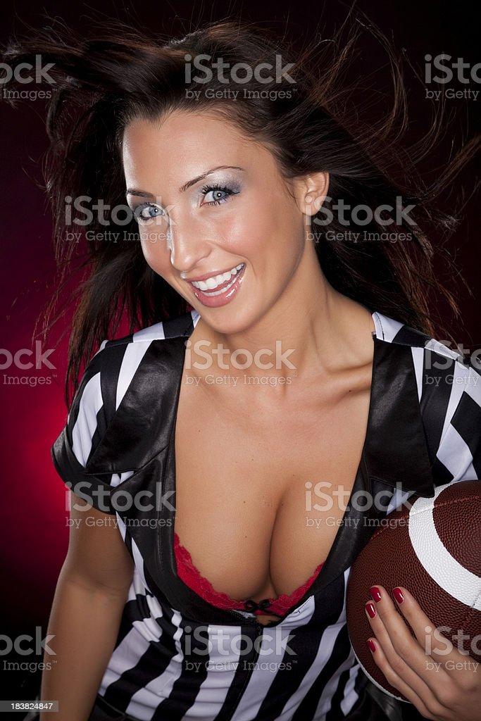 Sexy Female Sports Fan stock photo