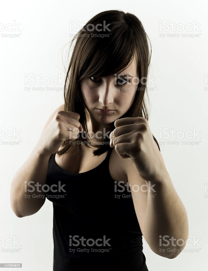 sexy fighter royalty-free stock photo