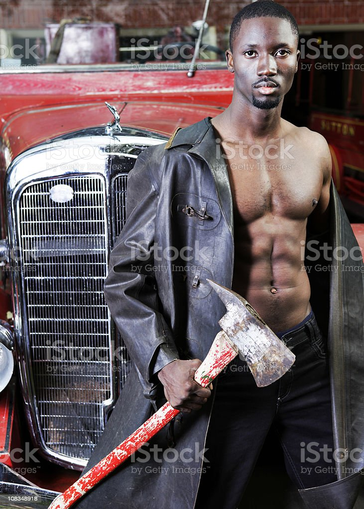 Sexy Fireman royalty-free stock photo