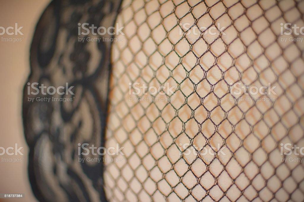 Sexy Fishnet Stockings stock photo