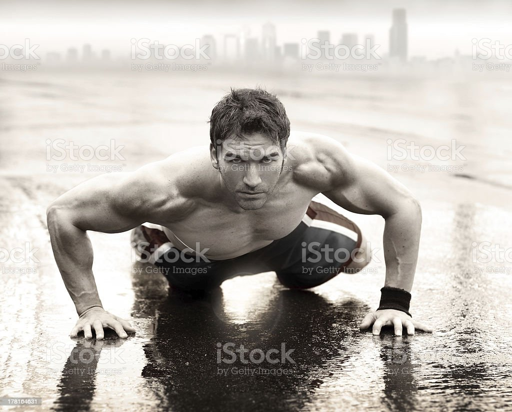 Sexy fit man royalty-free stock photo