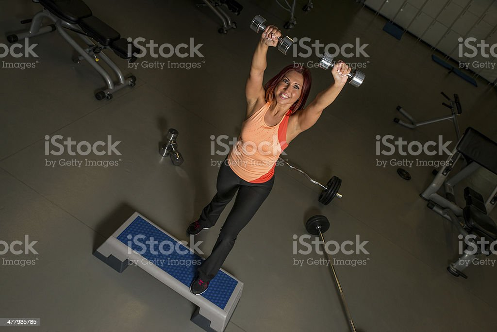 Sexy Fit Woman Exercising royalty-free stock photo