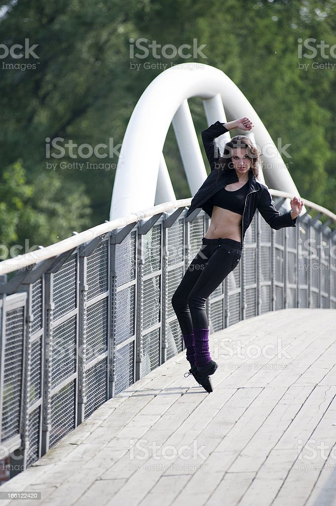 sexy fitness girl royalty-free stock photo