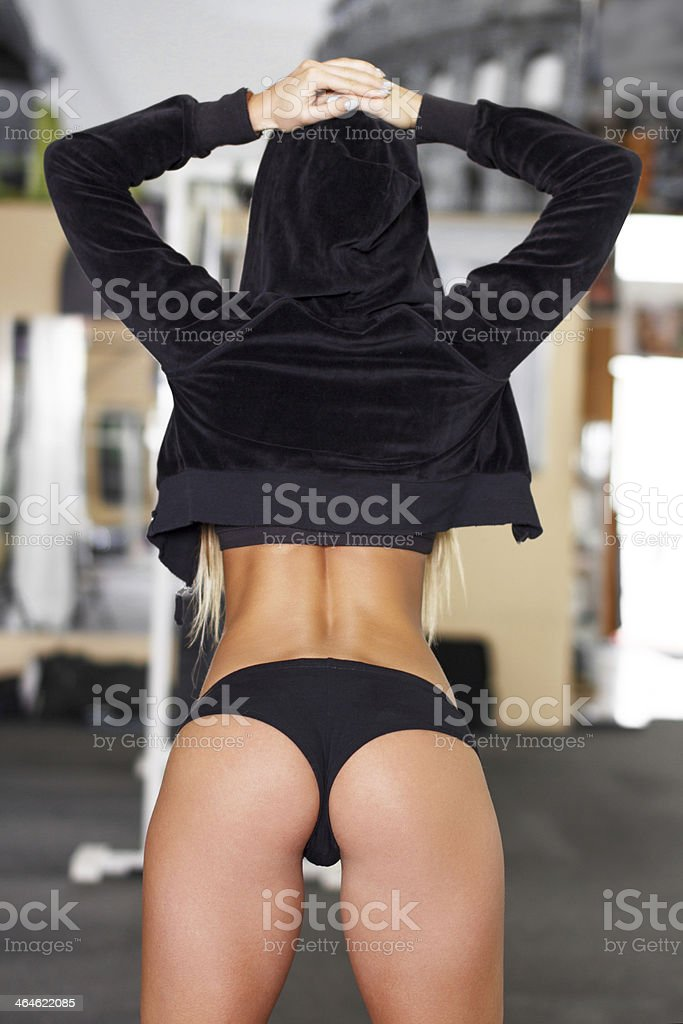 Sexy fitness model royalty-free stock photo