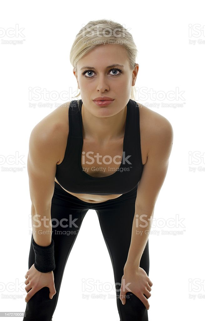 Sexy fitness. Thumbs up. royalty-free stock photo
