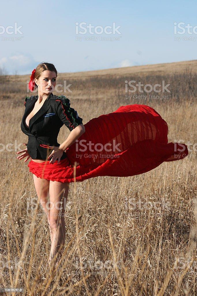 Sexy Flamenco Bullfighter Woman stock photo