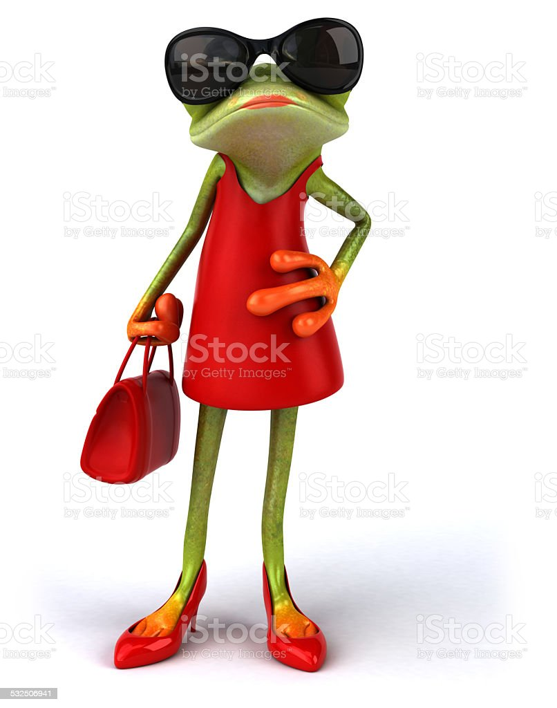 Sexy frog stock photo