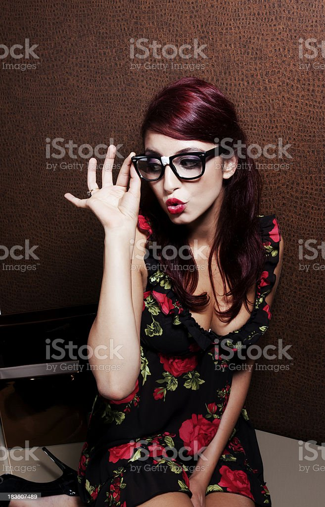 Sexy Geek royalty-free stock photo