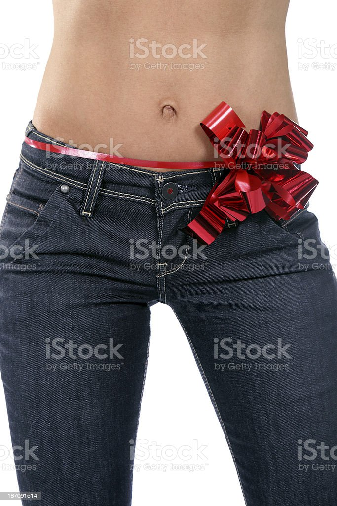 Sexy gift royalty-free stock photo
