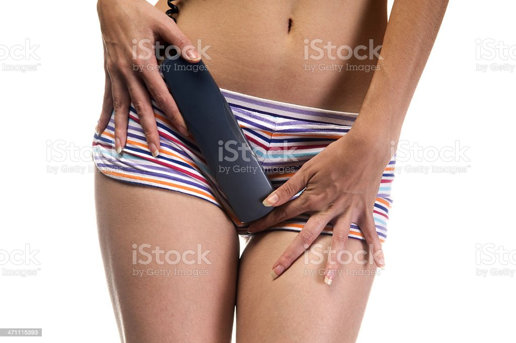 sexy girl and phone stock photo
