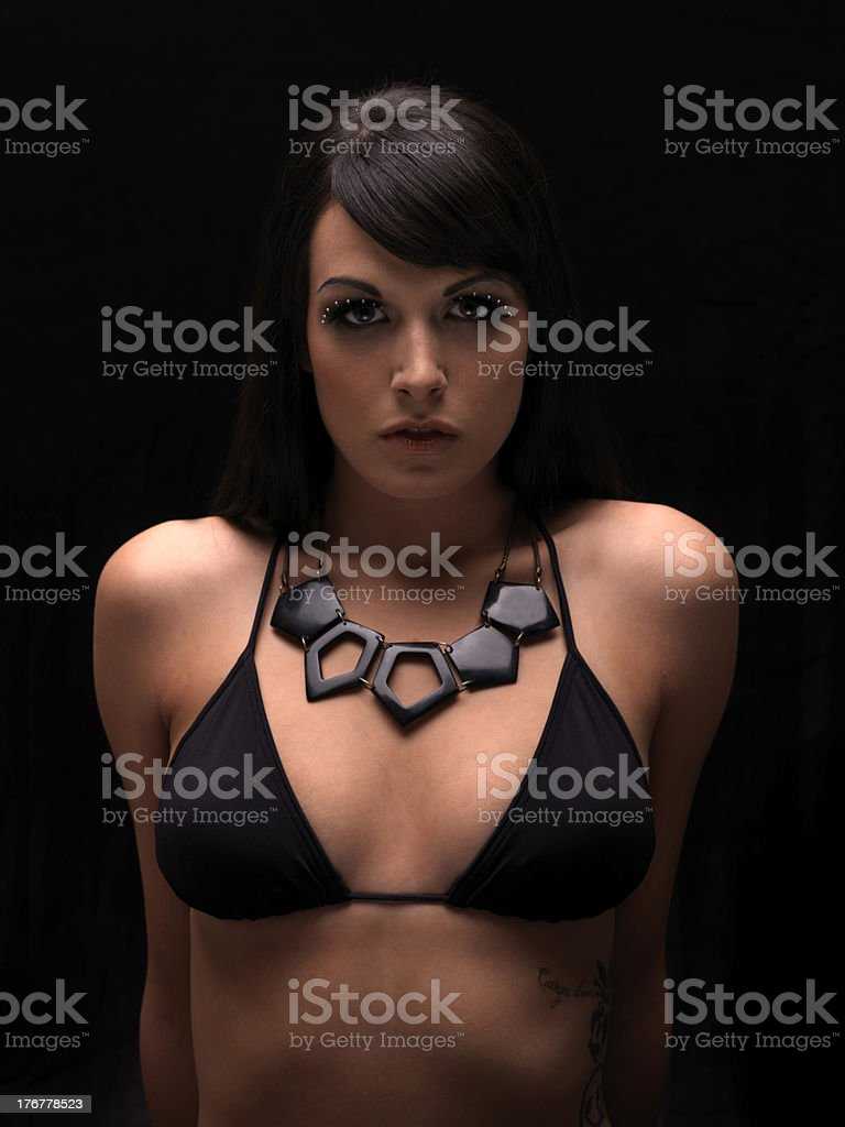 sexy girl in dark royalty-free stock photo