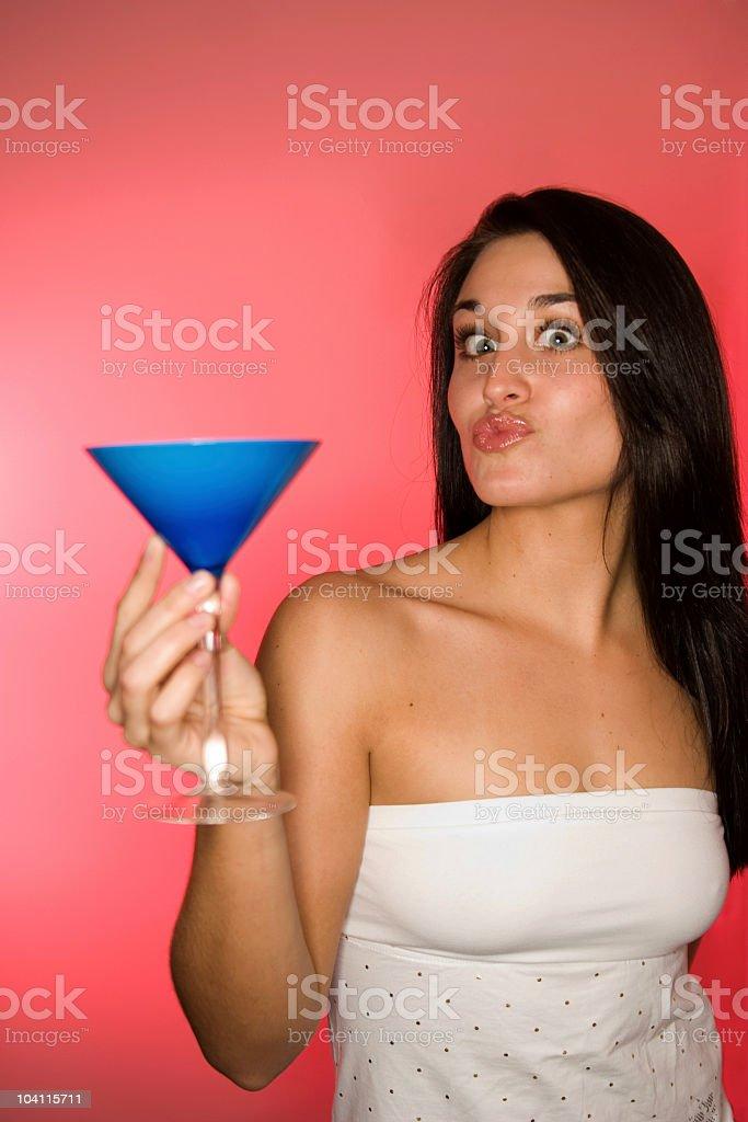 Sexy Girl Kissing stock photo