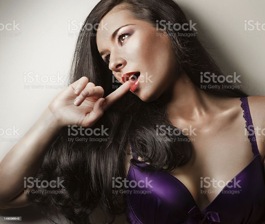 sexy girl on a bra royalty-free stock photo