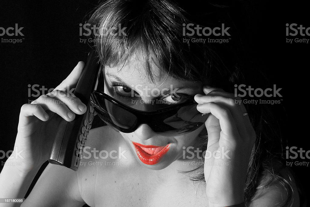 Sexy Girl on the Phone royalty-free stock photo