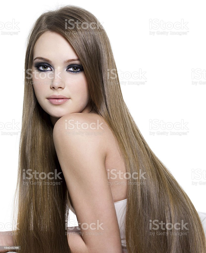 Sexy girl with beautiful long hair royalty-free stock photo