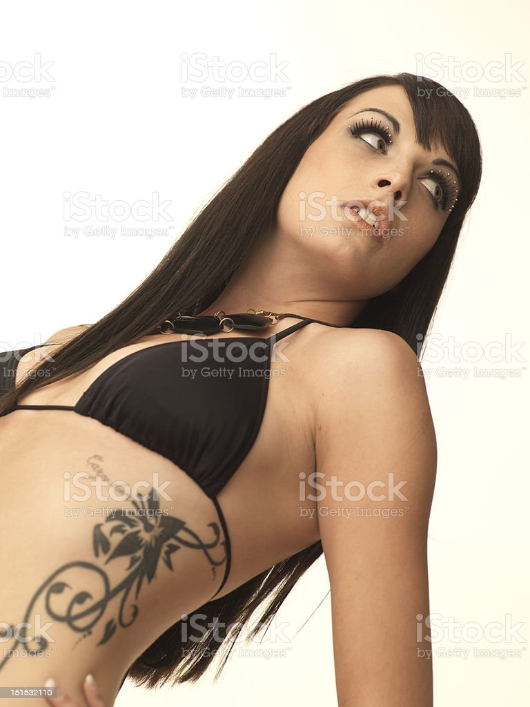 sexy girl with tattoo royalty-free stock photo