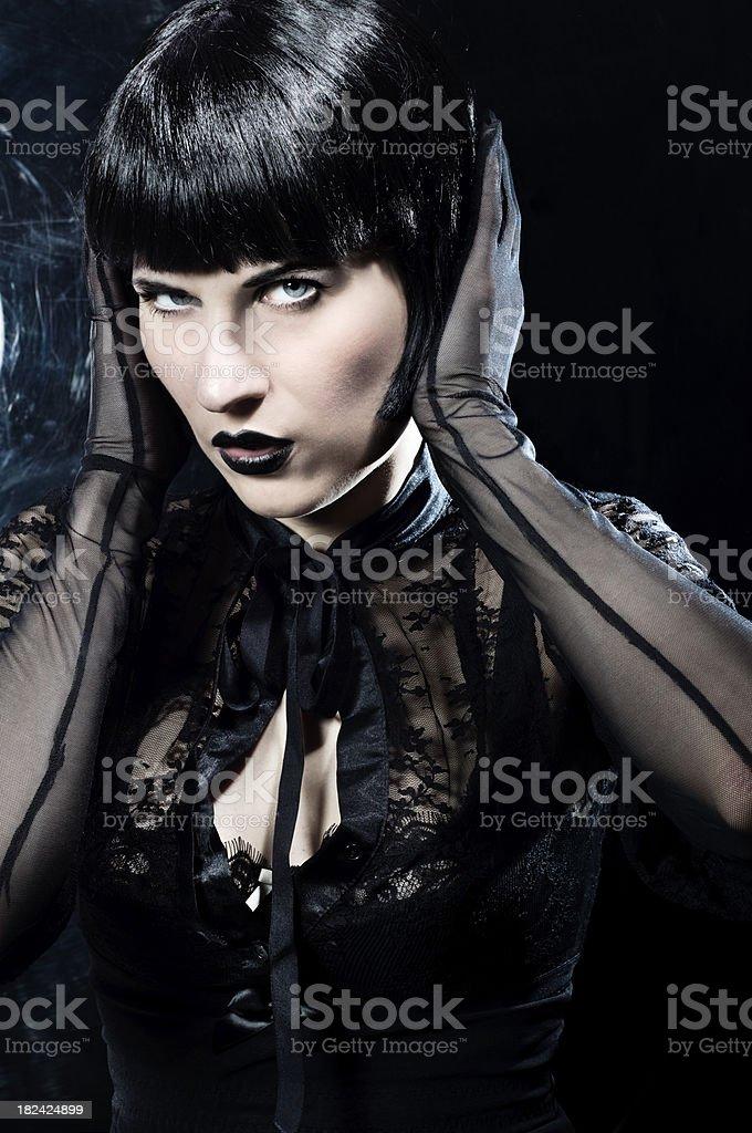 sexy goth stock photo