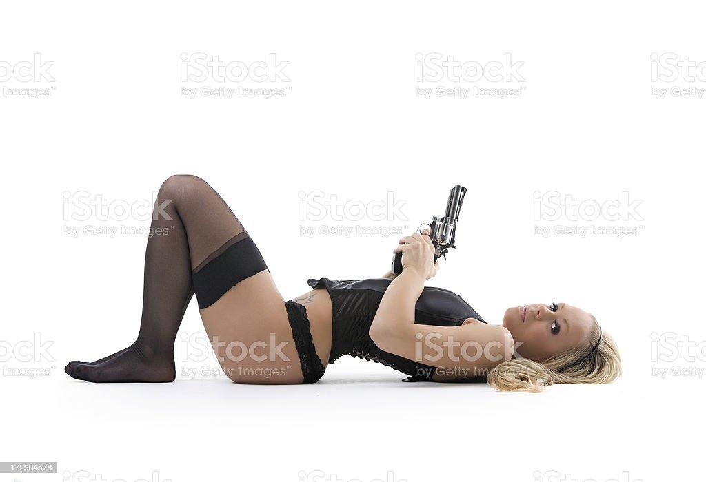 Sexy gun royalty-free stock photo